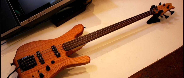 Alex Schaub's bass guitar