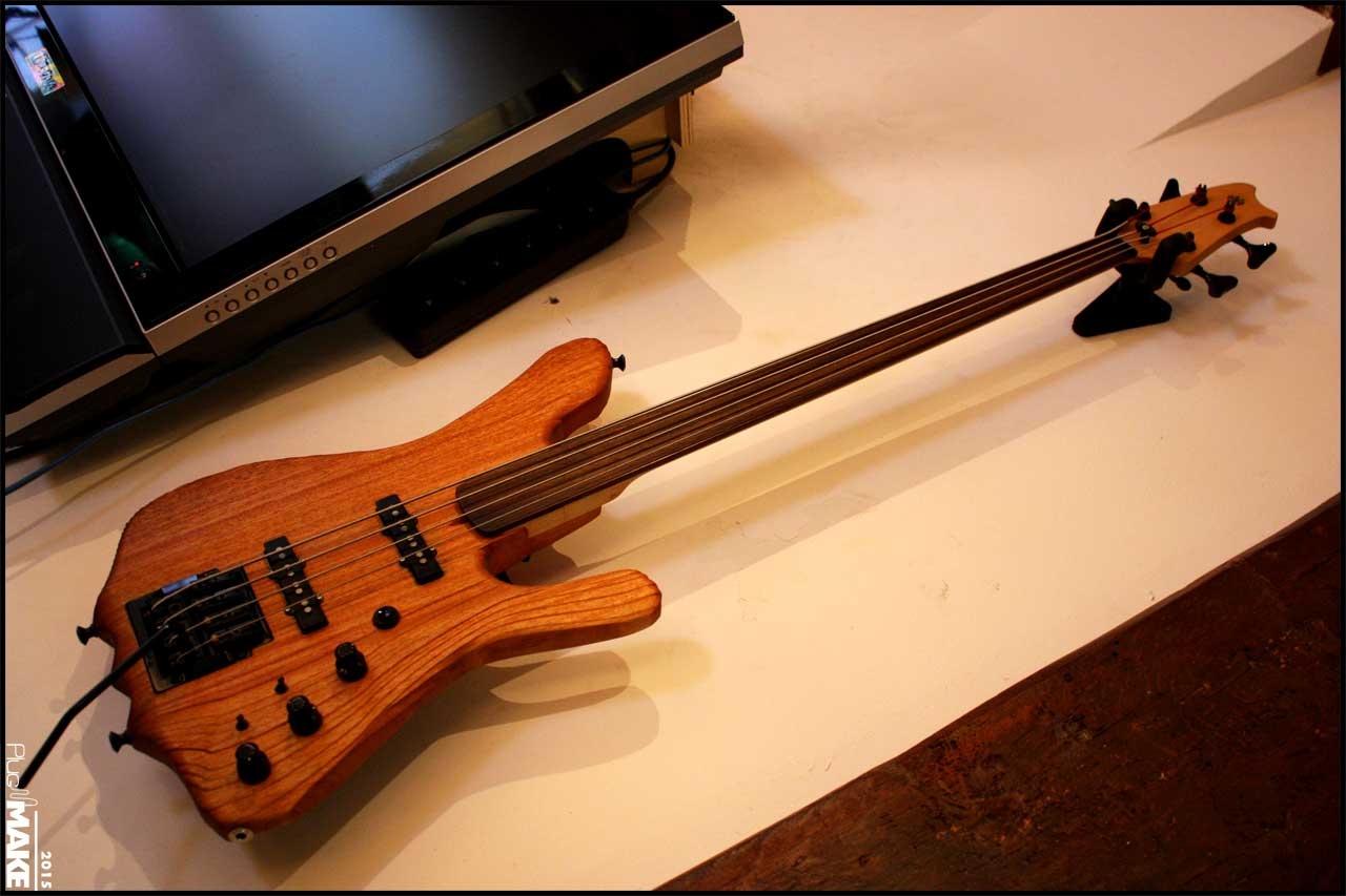 Alex Schaub's bass guitar