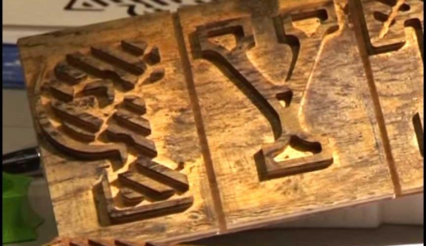 Mark van Wageningen's wooden letter stamps