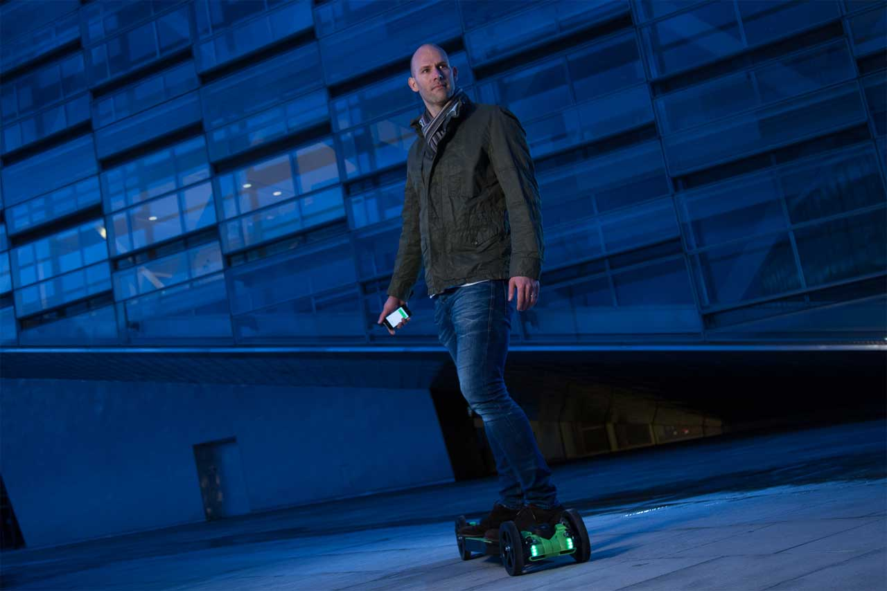 Sune Perseden on the 3D printed electric skateboard