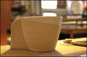3D printed clay cup
