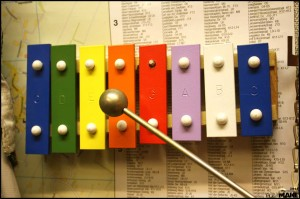 Self-built xylophone