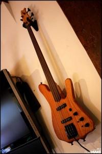 Alex Schaub's electric bass guitar