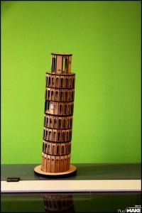 FabLab Maastricht - Laser cut Pisa's tower