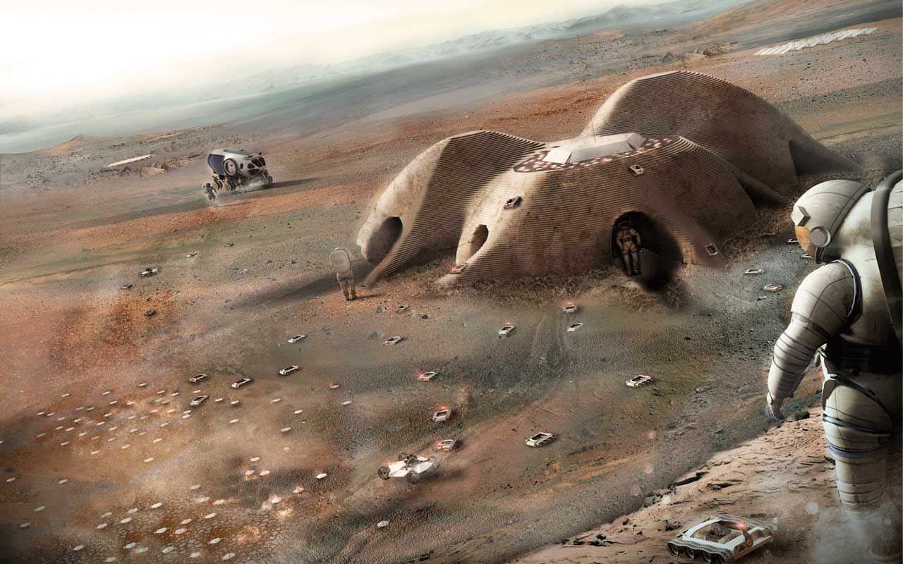 Mars habitat design - Gamma team, Foster and Partners