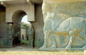 Nimrud temple's lamassu